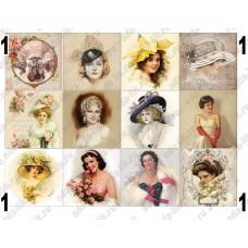 Ретро леди, картинки для мыла