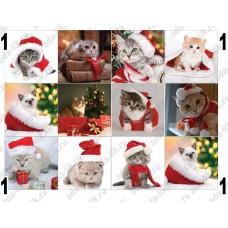 Новогодние котята, картинки для мыла