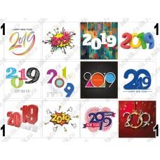 Новый Год 2019, цифры, картинки для мыла
