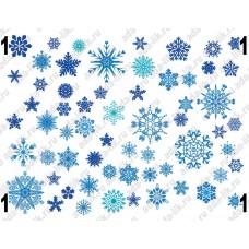Снежинки, картинки для мыла