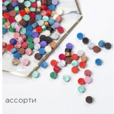 Цветной сургуч / воск - 100шт/уп