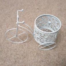Кашпо для мыльных букетов, велосипед плетеный